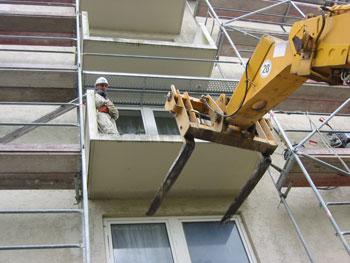 Balkonrückbau Diamanttechnik