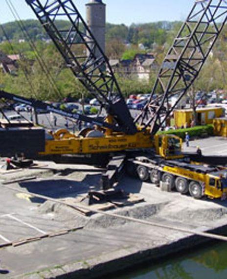 Brückenrückbau Diamanttechnik