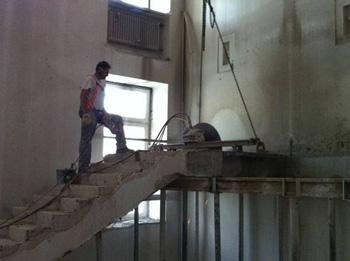 Treppenrückbau Diamanttechnik
