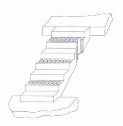 Treppenrückbau